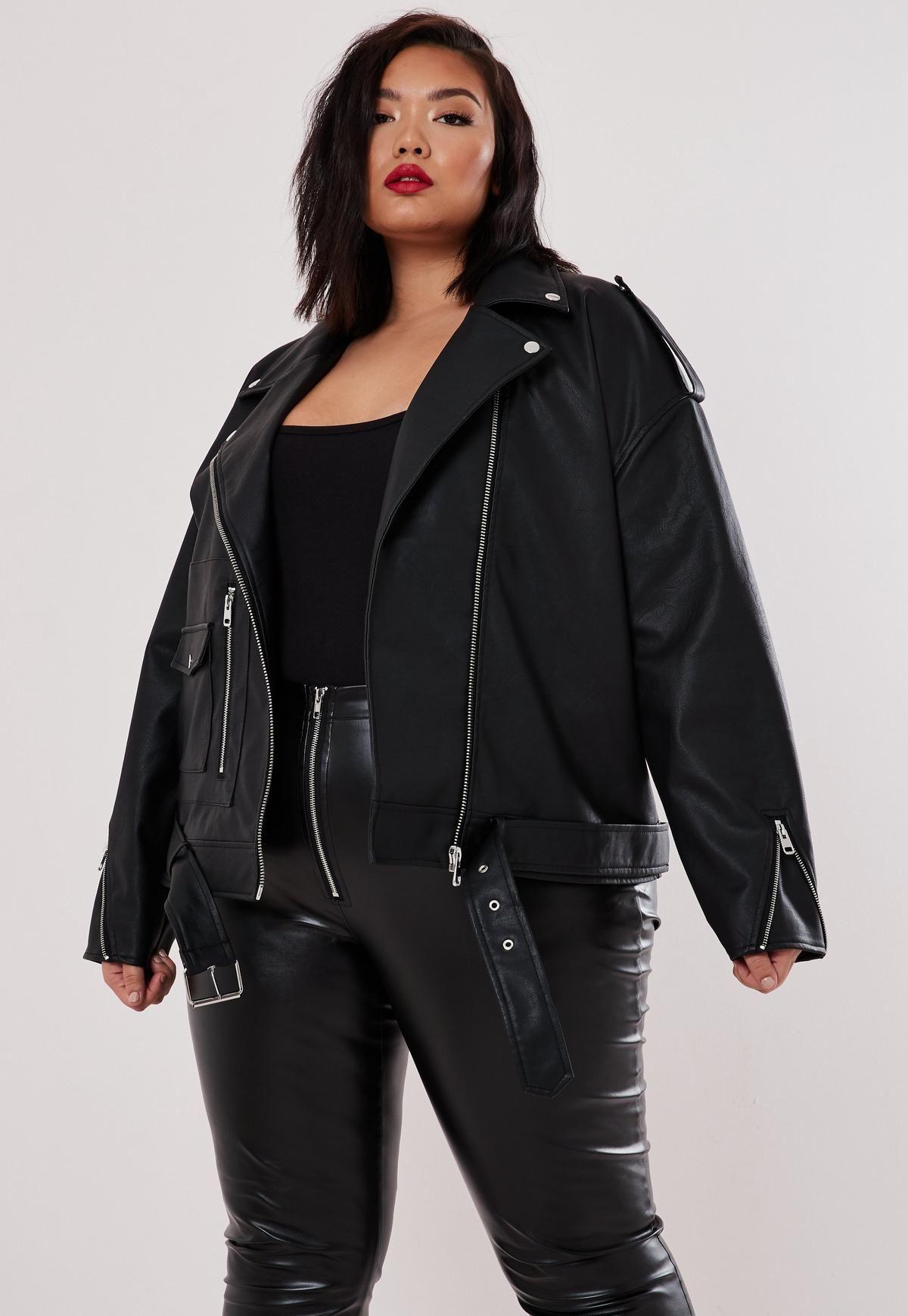 Womens Biker Jacket Plus Size Plus Size Leather Jacket Leather Jacket Plus Size Outfits [ 1739 x 1200 Pixel ]