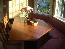 SCB Custom Woodworking - Cherry Window-Seat Table