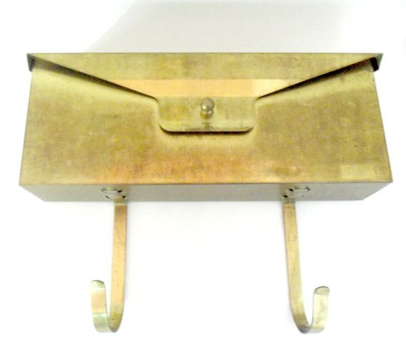 Large Brass Wall Mount Mailbox Envelope Style Brass Mail Receptacle