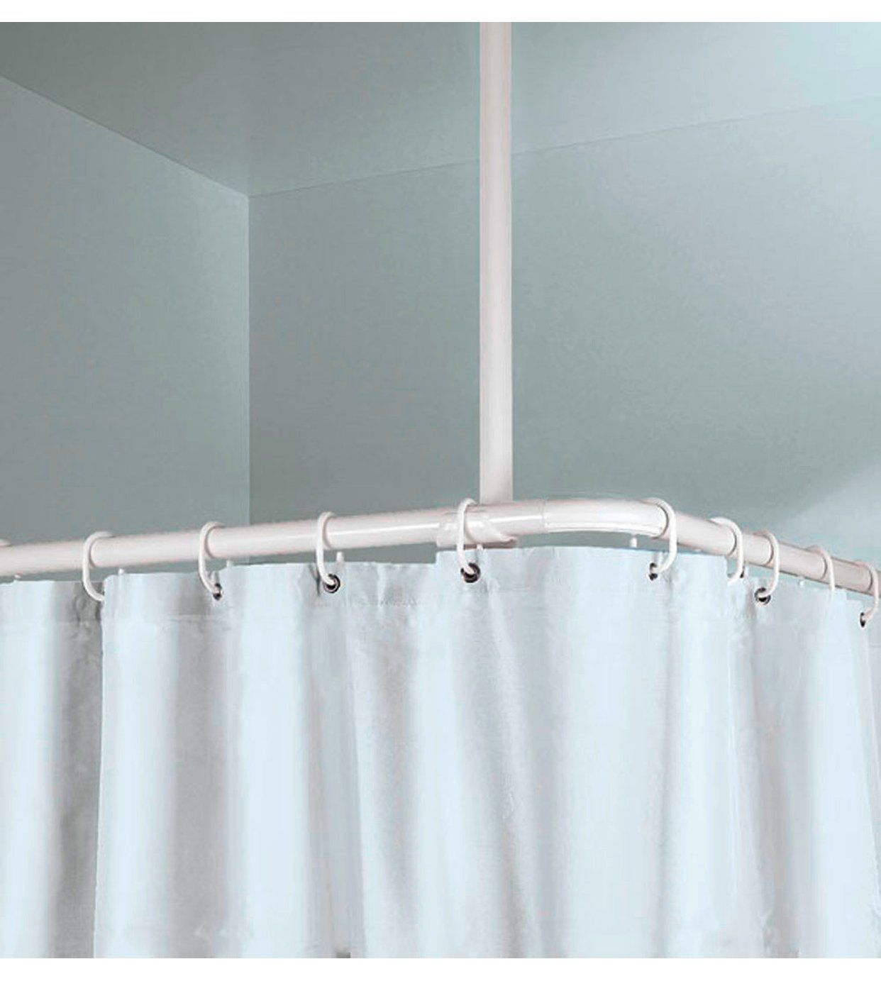 Obi Stange Deckenhalter 60 Cm Lange 25 Mm Weiss Kaufen Bei Obi Duschstangen Halte Durch Dusche