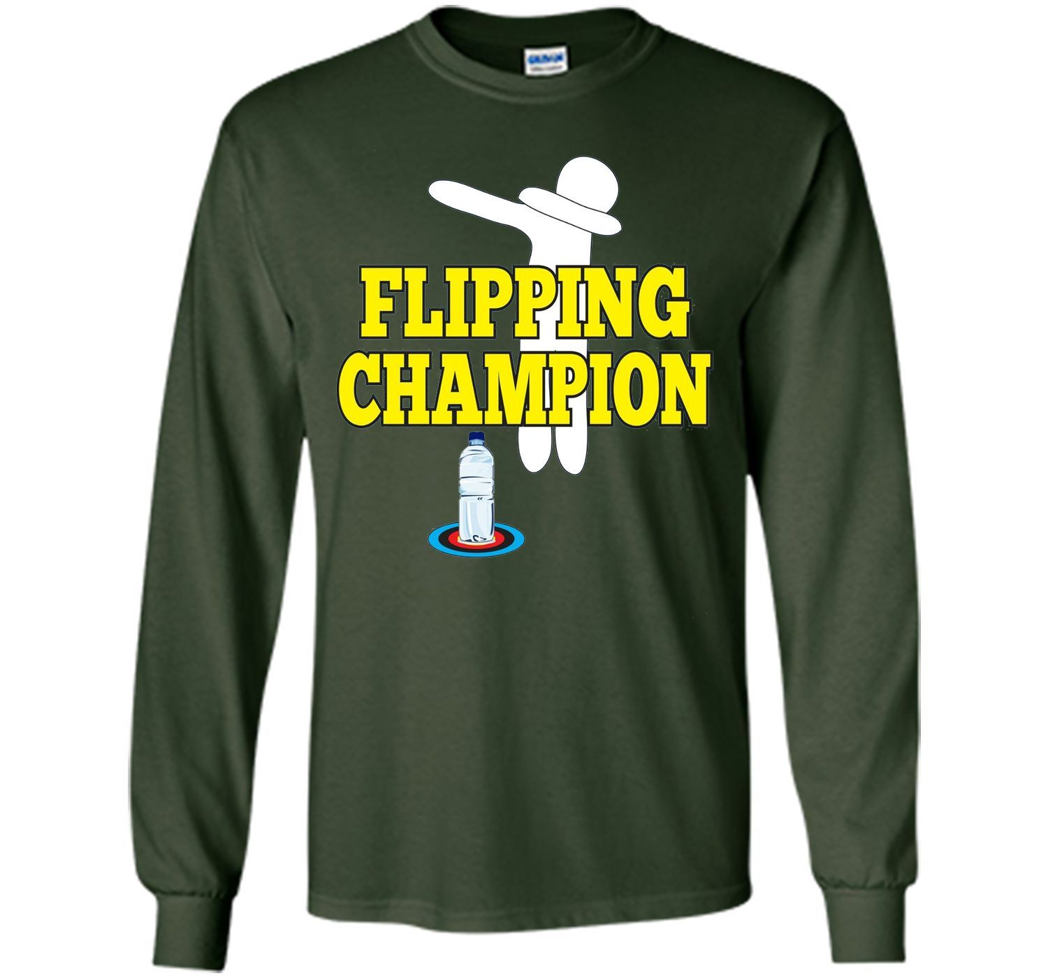Water Bottle Flipping Tshirt Champion Dabbing Funny