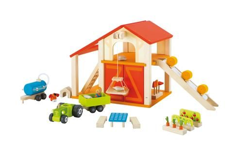 Sevi - Happy Barn Set | Toy barn, Wooden toys, Toys