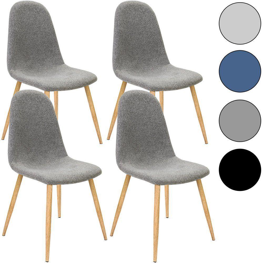 Design Esszimmerstühle 4x design stuhl mit stoffbezug dunkelgrau esszimmerstühle stühle