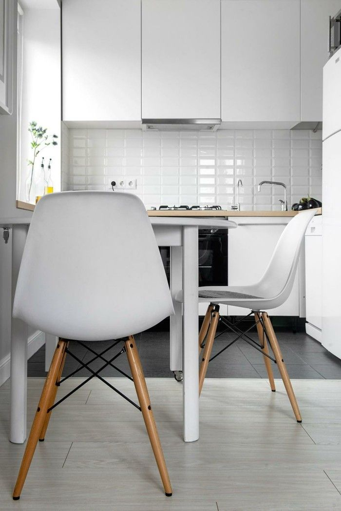 küchenstühle moderne weiße stühle in der hellen küche