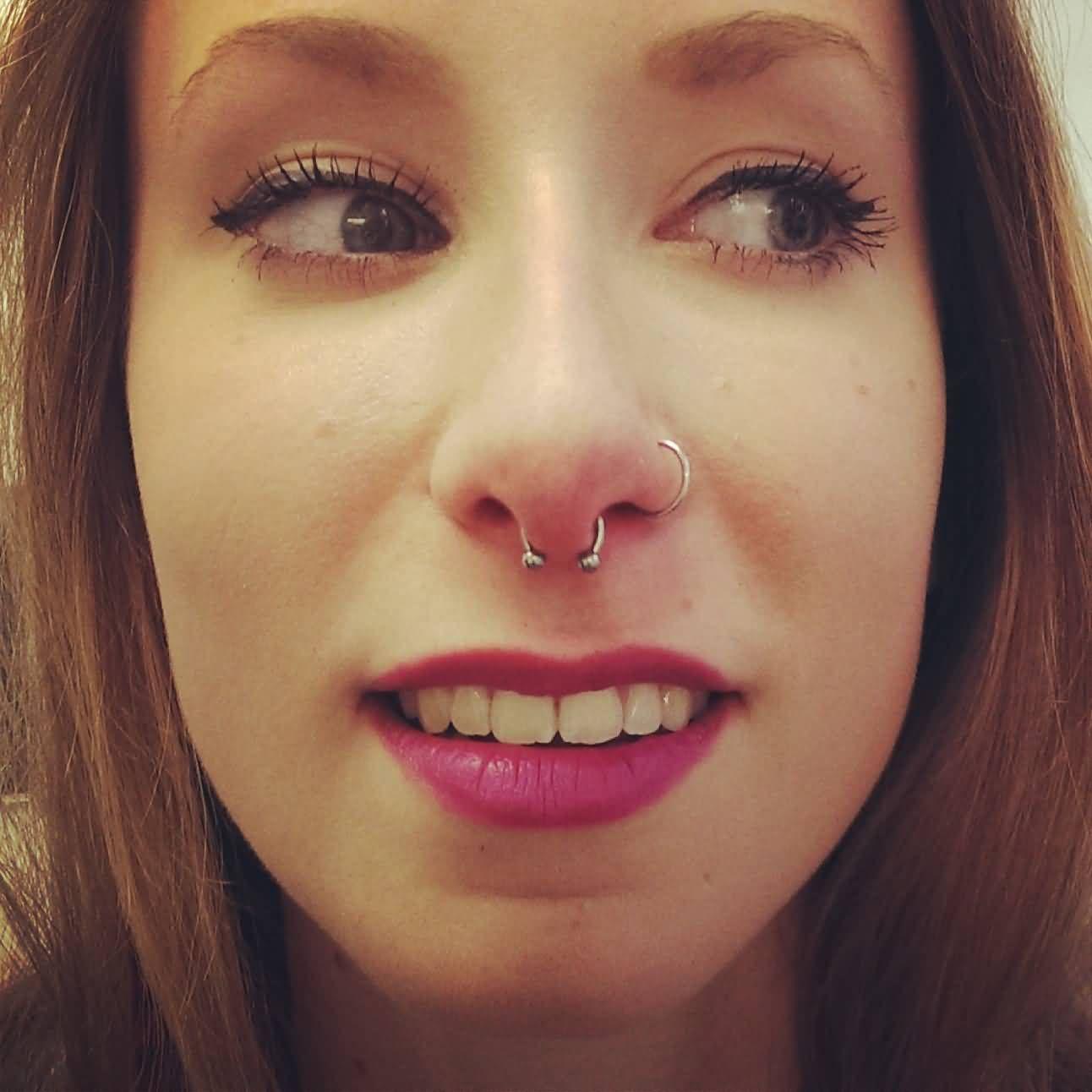 Left Nostril And Septum Piercing Septum Piercing Black Girl