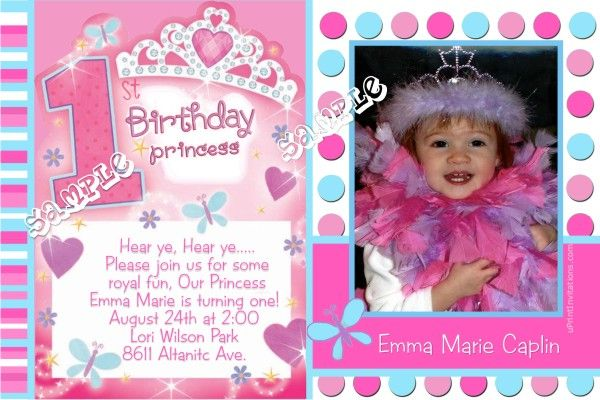 Princess 1st Birthday Invitations Get these invitations RIGHT