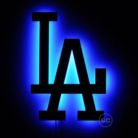 Lighted La Dodgers Sign Led Backlit Los Angeles By Signschromatic