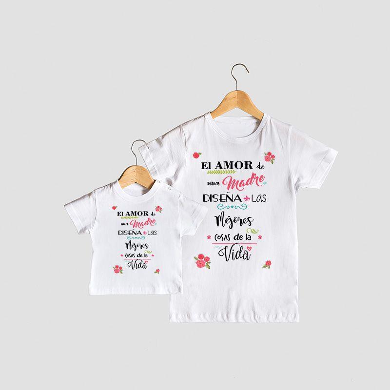16bc26916e6ac Conjunto de camisetas mama e hija. Ideales para regalar o para lucir ideal  con tu
