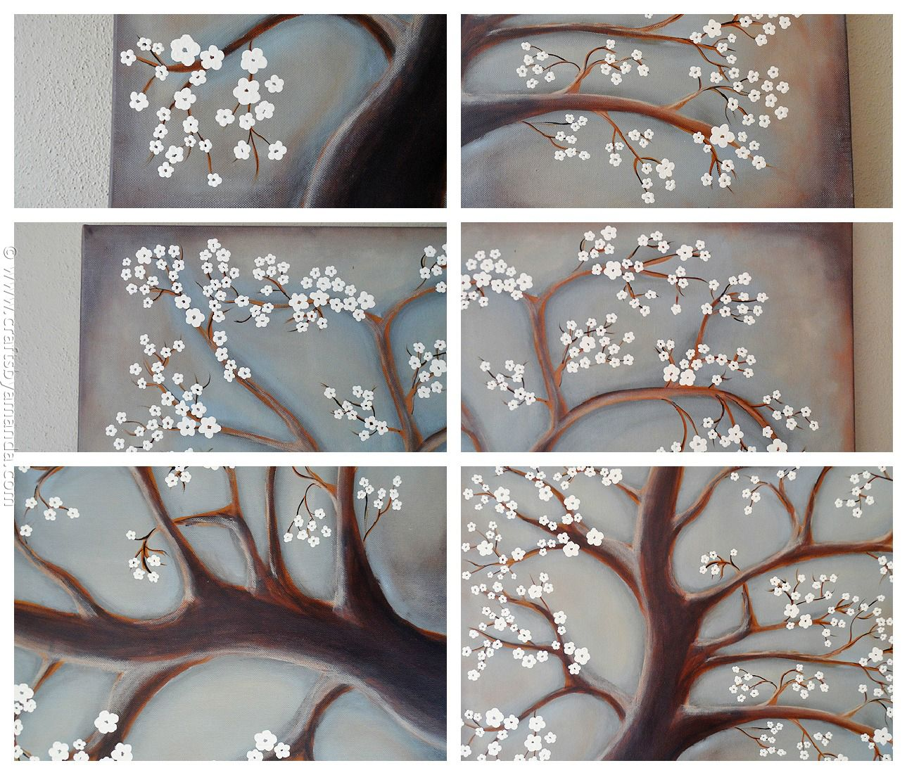 White Cherry Blossom Tree Painting Crafts By Amanda Tree Painting Cherry Blossom Tree White Cherry Blossom