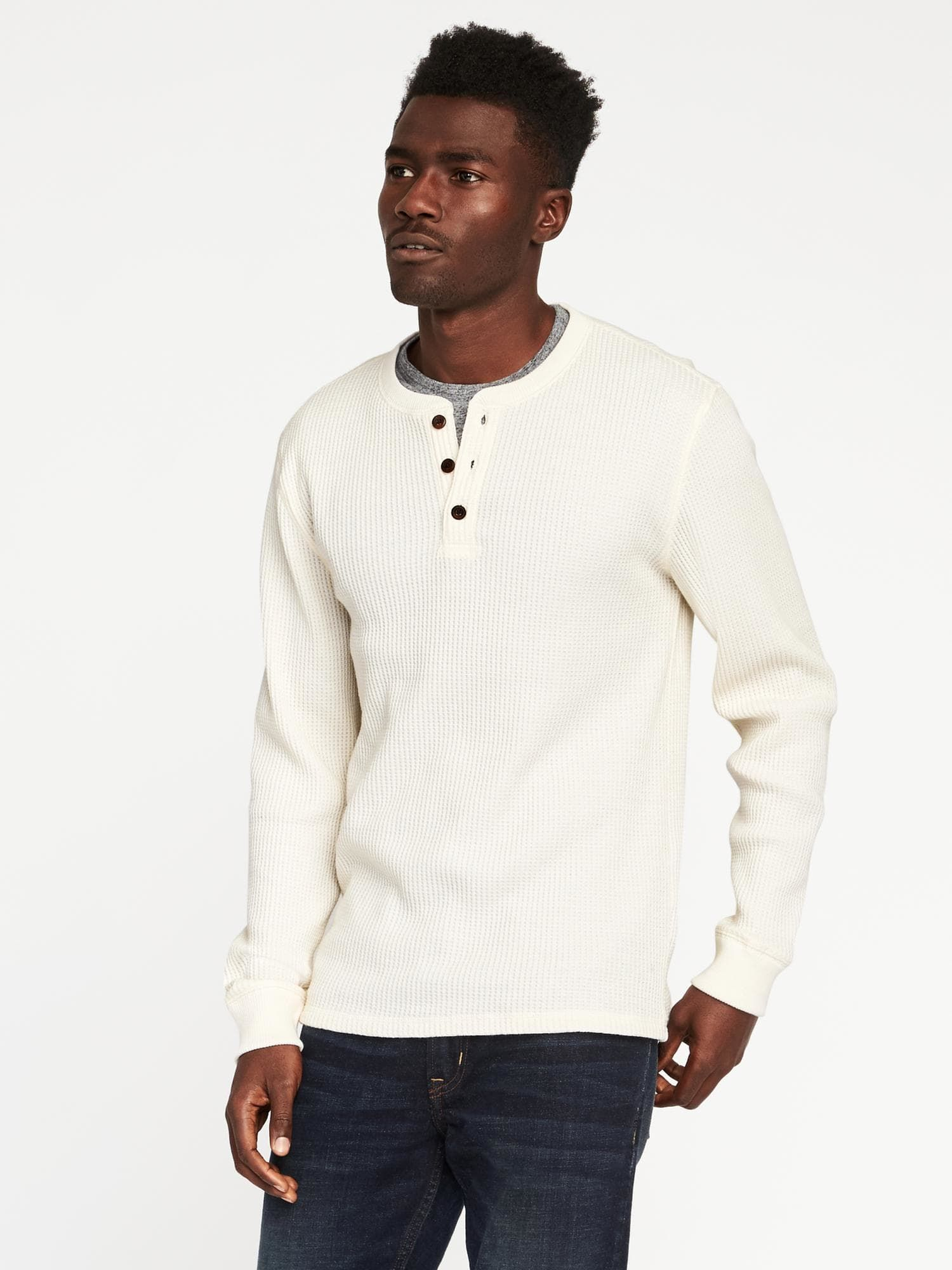 cfc23090 Premium Chunky Waffle-Knit Henley for Men | Old Navy | christmas ...