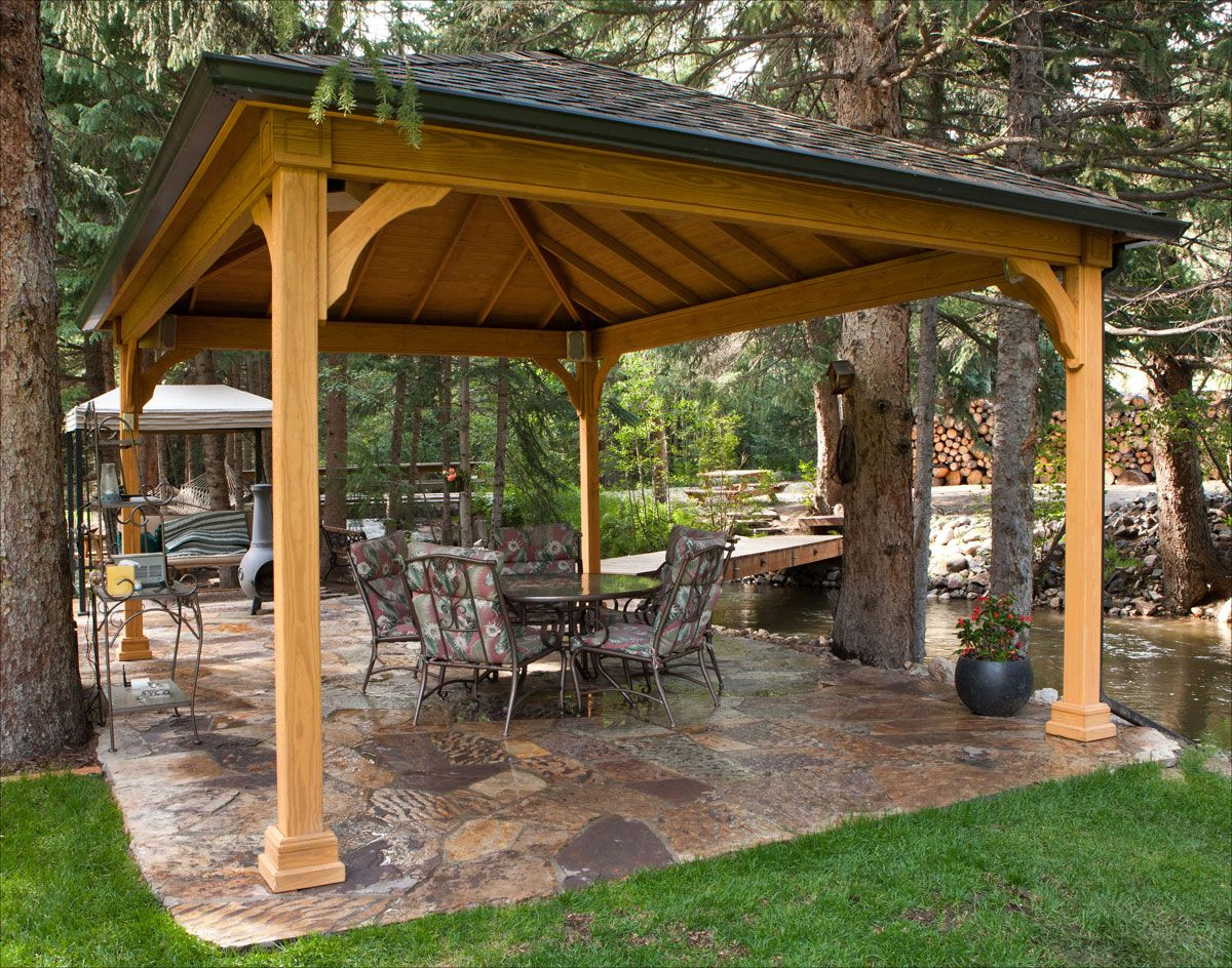 110 gazebo designs ideas wood vinyl octagon for Large patio design ideas