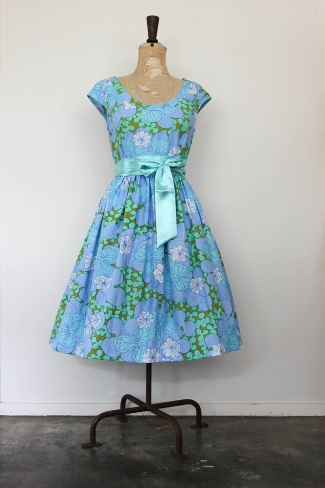 deluxe fabric - capped sleeve tea dress