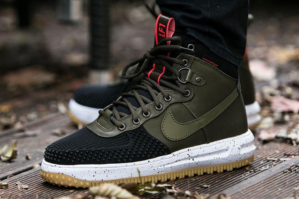 Nike Lunar Force 1 Duckboot Dark Loden Via Kicks Daily Com Nike Boots Sneakers Men Fashion Nike Duck Boots
