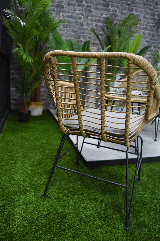 Ensemble Table 2 Fauteuils En Rotin Naturel Kalico En 2020 Fauteuil Rotin Decoration Et Renovation Fauteuil