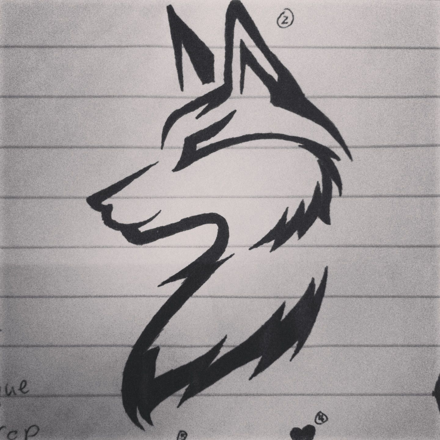 100+ [ Small Wolf Tattoo Designs For ] | 8 Best Small ... - photo#45