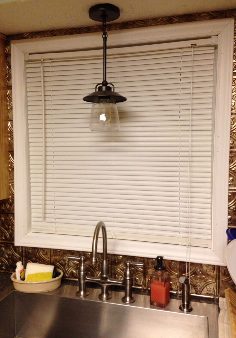 My Country Farmhouse Kitchen Kitchen Sink Lighting Country