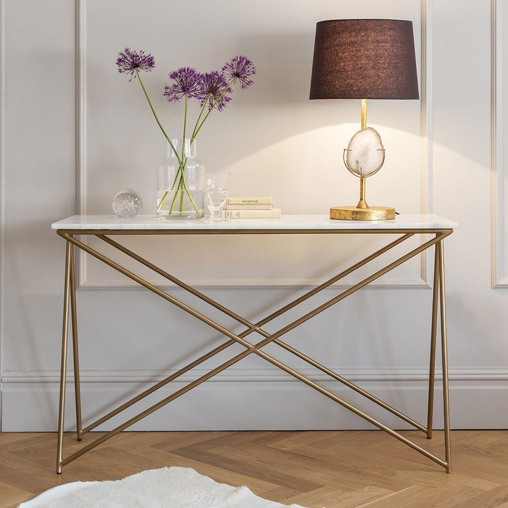 Stellar White Marble Console Table Marble Console Table White