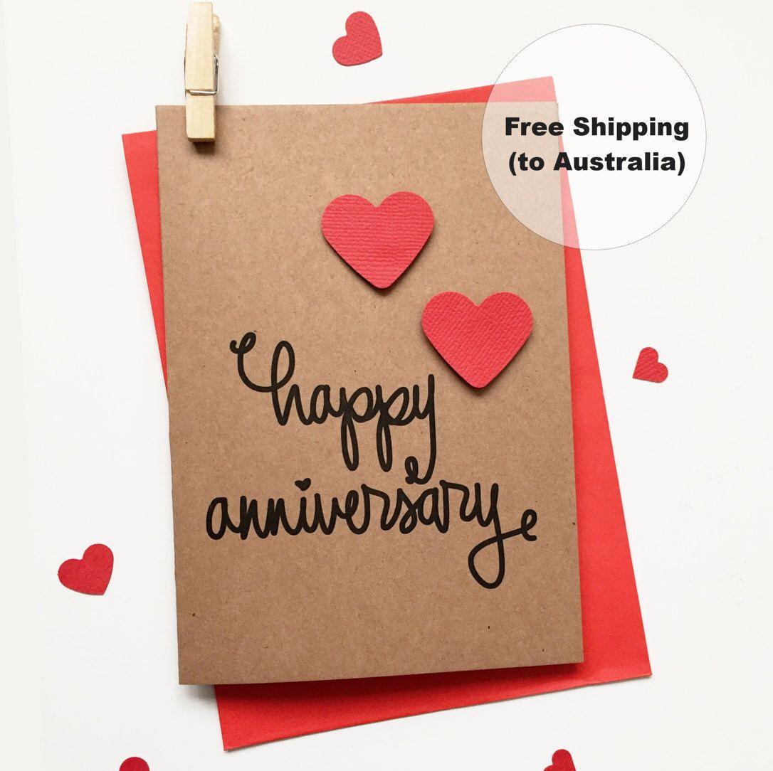 Happy Anniversary Card Heart Cute Anniversary Card Happy Anniversary Car Happy Anniversary Cards Anniversary Cards Handmade Happy Wedding Anniversary Cards