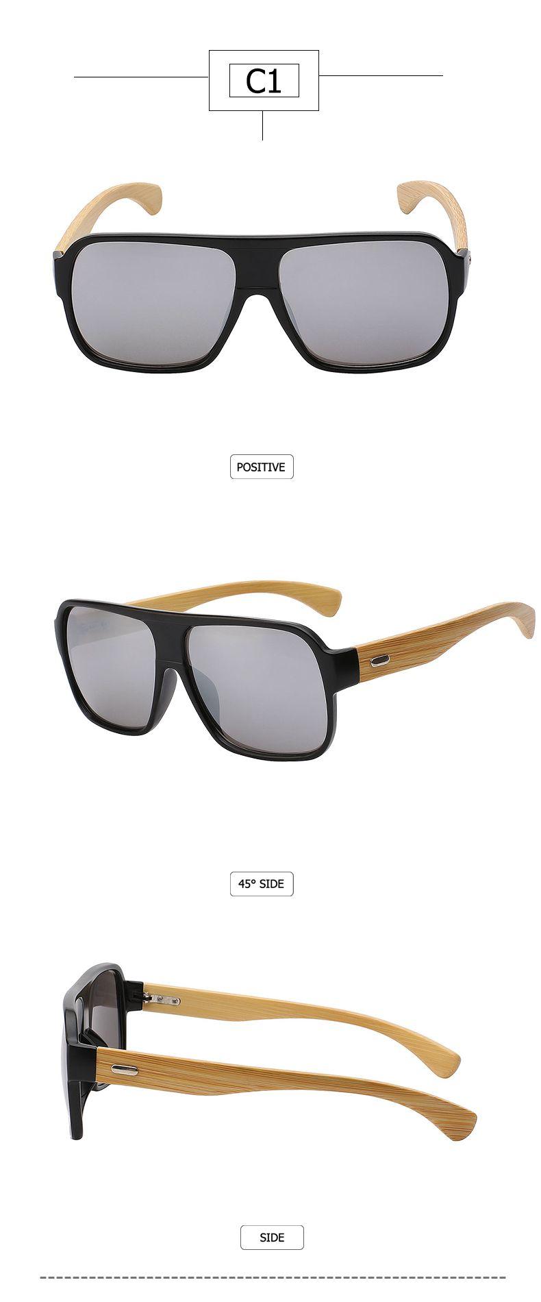 fec4d853fc Max glasiz New 2016 Bamboo Frame Square Wooden Sunglasses Men Retro Vintage  Eyewear Unisex Male Glasses Oculos De Sol Madeira 7