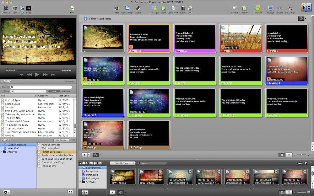 ProPresenter | ProPresenter | Presentation software, Software, Worship