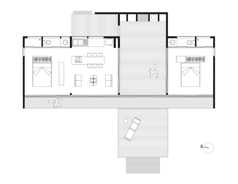 Gallery Of B8 House 56 02 21 In 2020 Modern Beach House House Floor Plans Beach House Floor Plans