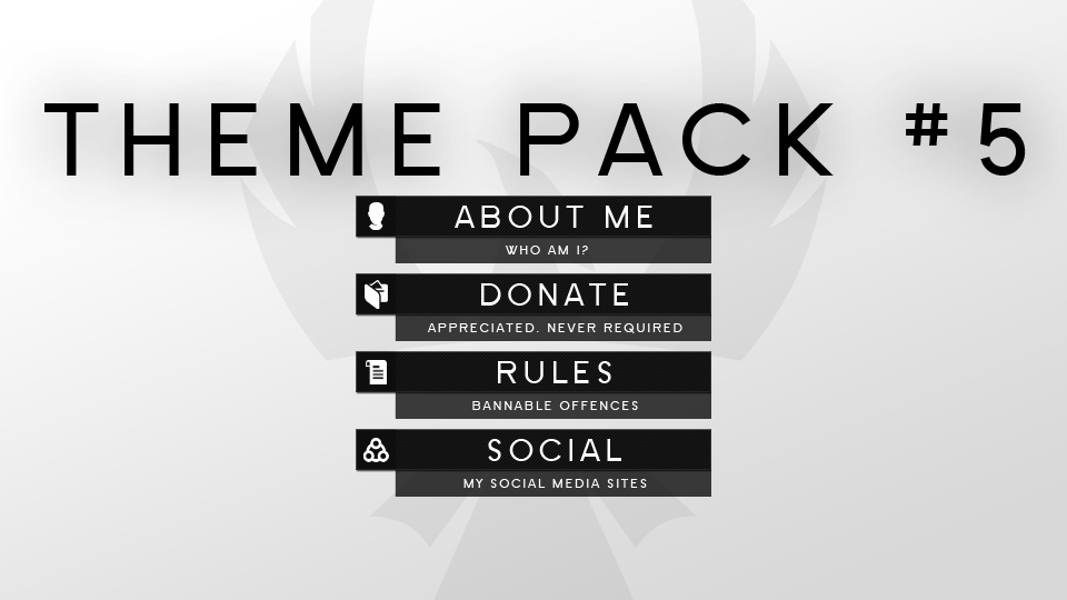 Free Twitch Panel Theme Packs Twitch Lettering Theme