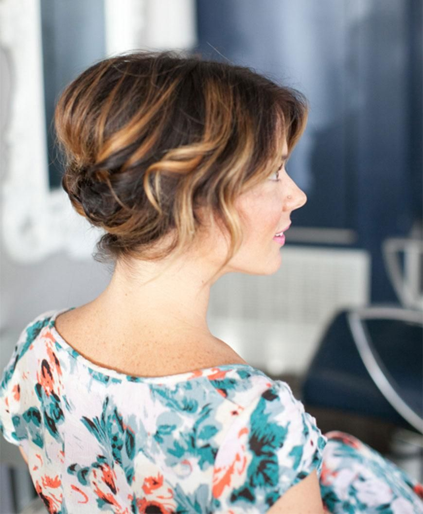 Find Your New Fall Hairstyle  Short wedding hair, Short hair updo