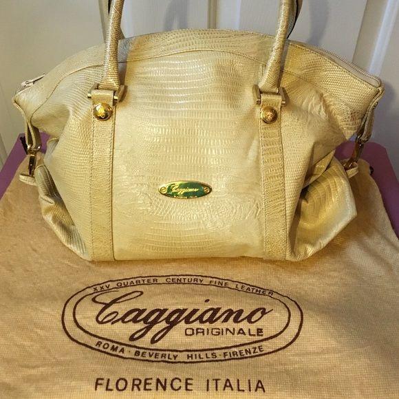 Authentic Caggiano Handbag With Dustbag
