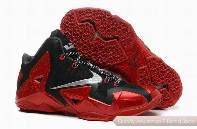 cfe510df7946 Nike Lebron 11 Away Black-Red Basketball Shoes. cheap lebron 11 shoes sale  online