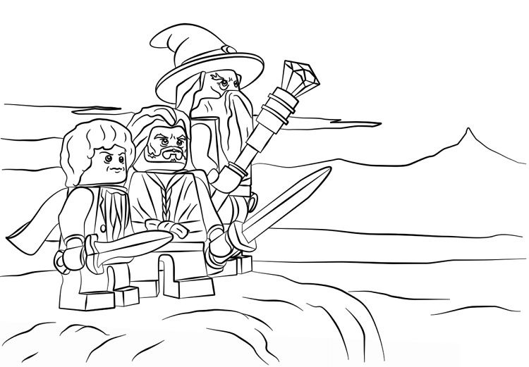 lego coloring pages lord of the rings | Coloring Pages For Kids ...