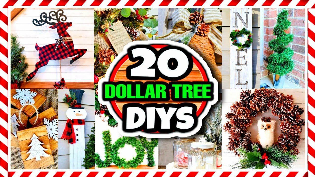 Christmas Craft Fair Ideas 2020 Youtube 20 Dollar Tree DIY Christmas Decorations & Ideas for 2020