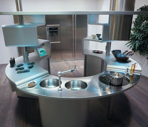 Futuristic Kitchen Design Ideas Kitchens Round Kitchen