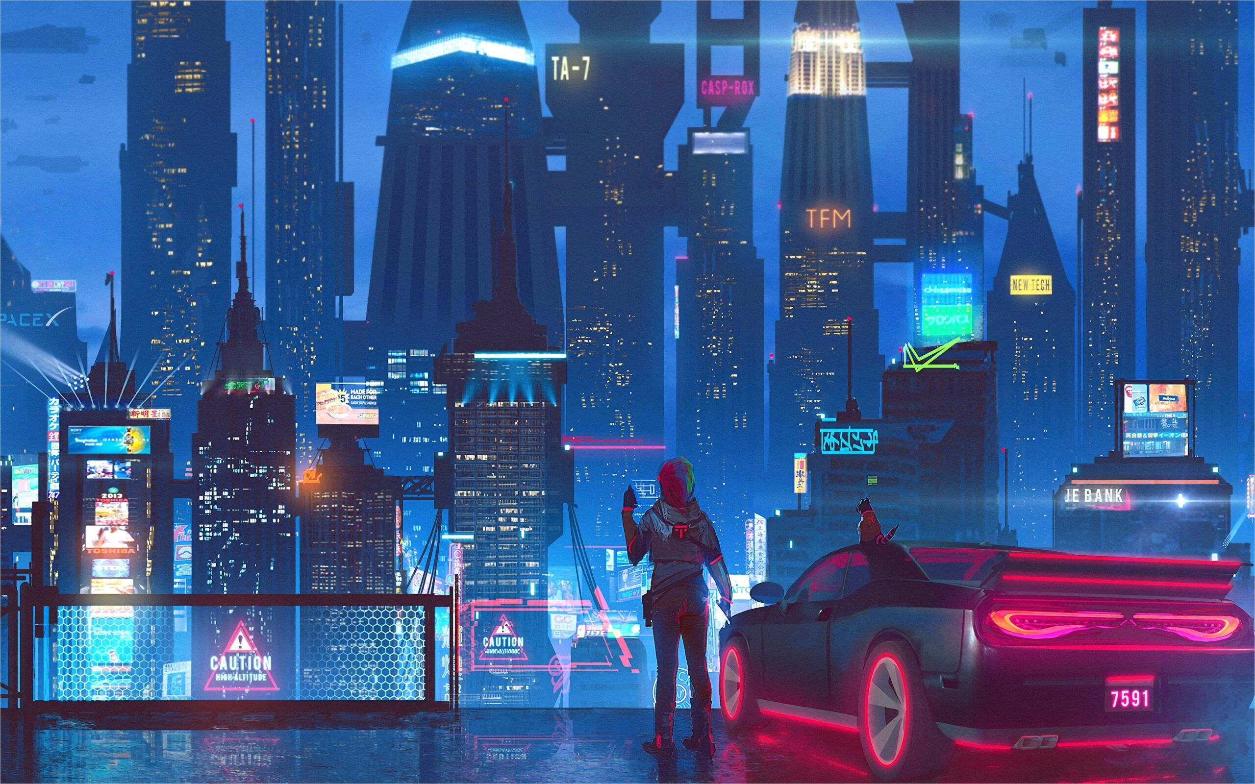 4k Monitor Wallpaper Cyberpunk In 2020 Cyberpunk City Sci Fi City Cyberpunk