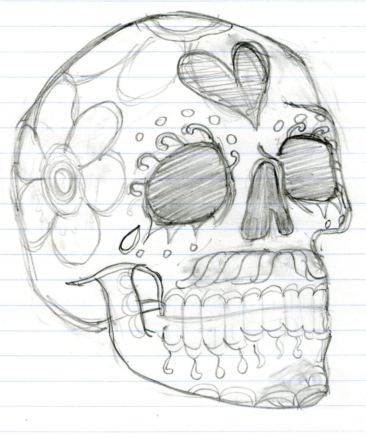 Легкие картинки черепа