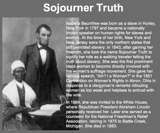 Sojourner Truth Quotes Amusing Sojourner Truth 17971883  Black History  1800S  Pinterest