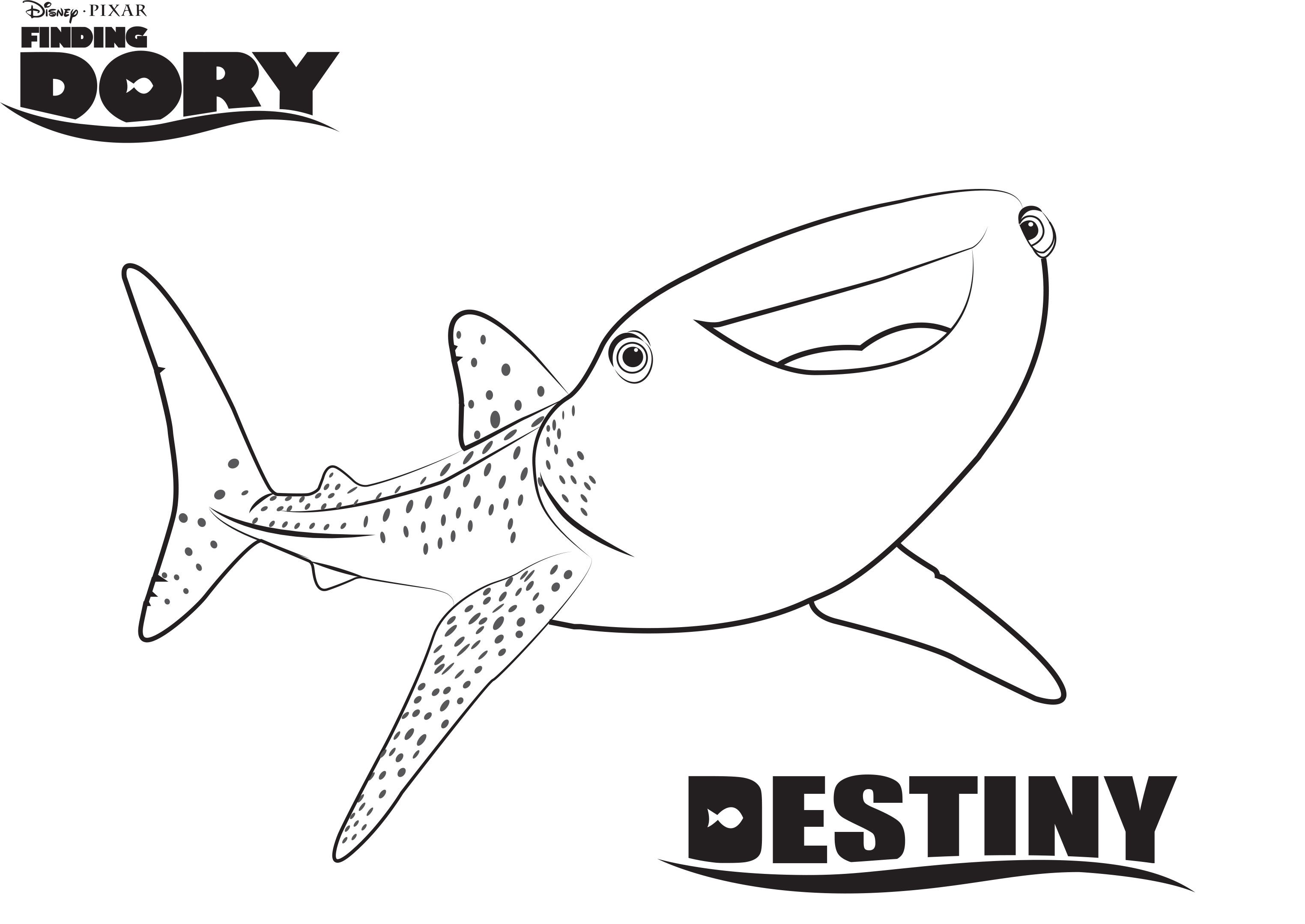 Disney's Finding Dory Coloring Pages Sheet, Free Disney ...