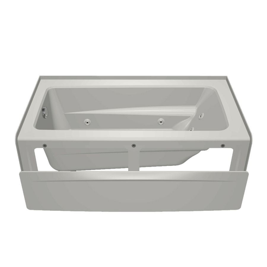 Jacuzzi Primo White Acrylic Rectangular Whirlpool Tub (Common: 32-in ...