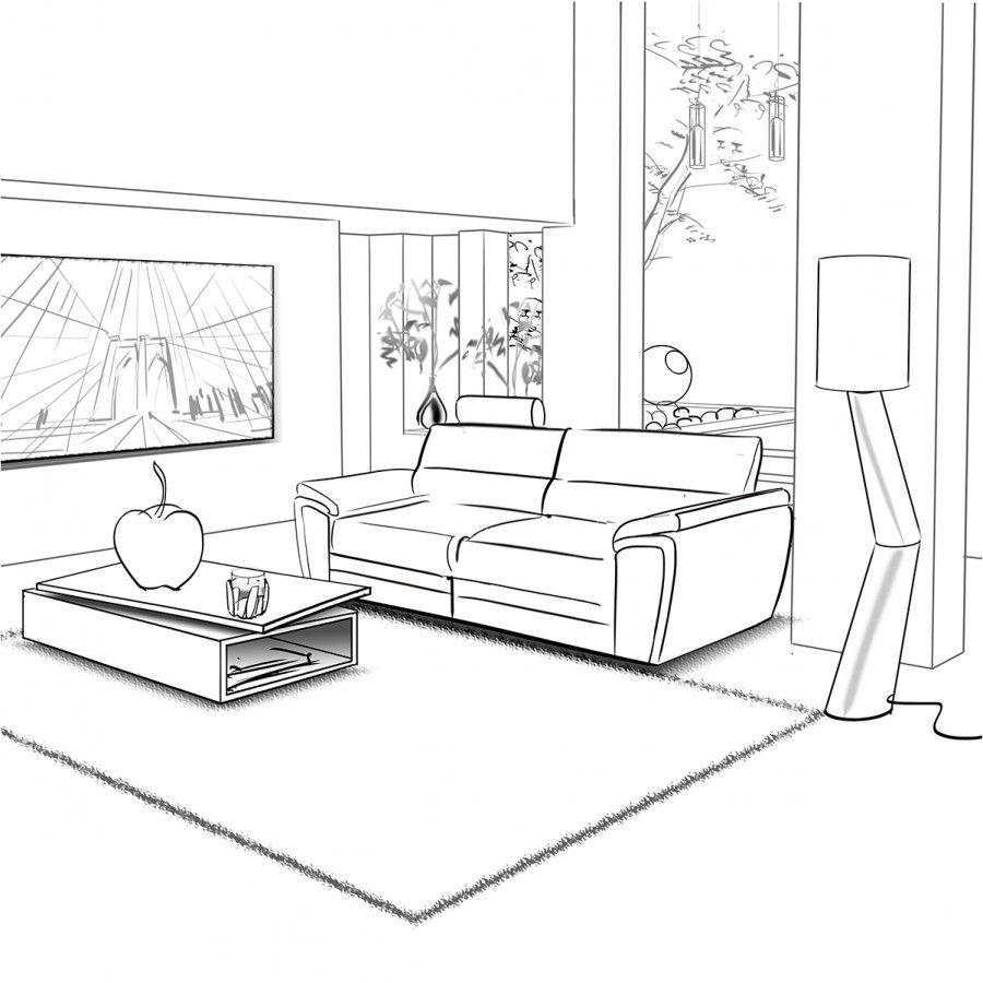 картинки гостиной комнаты рисунок