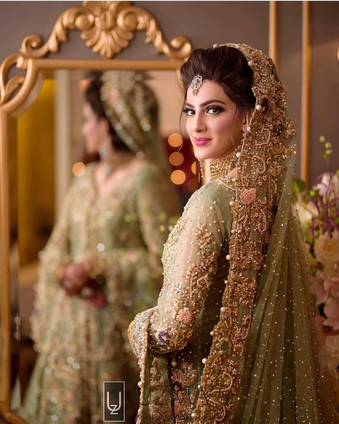 Pakistan bride The ever so stunning Minahil in a bespoke