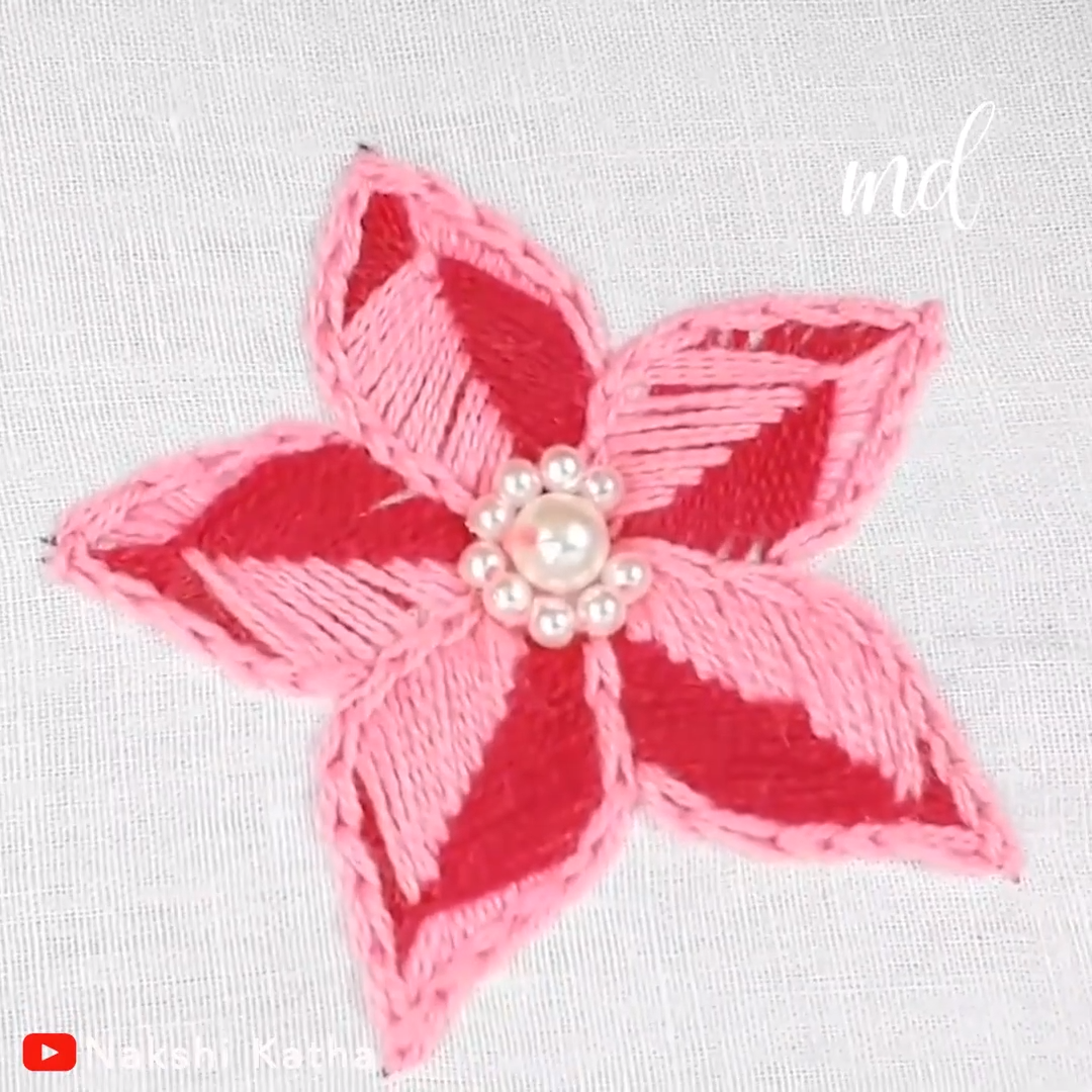 Anybody can master the art of this flower embroidery!