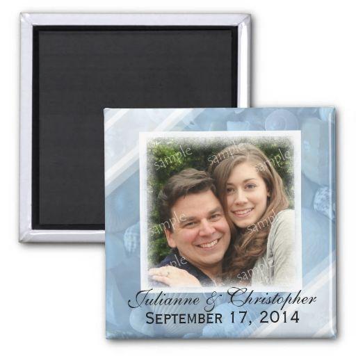 Beach Themed Photo Magnet To Personalize Beach Wedding Announcements Beach Theme Wedding Wedding Magnet