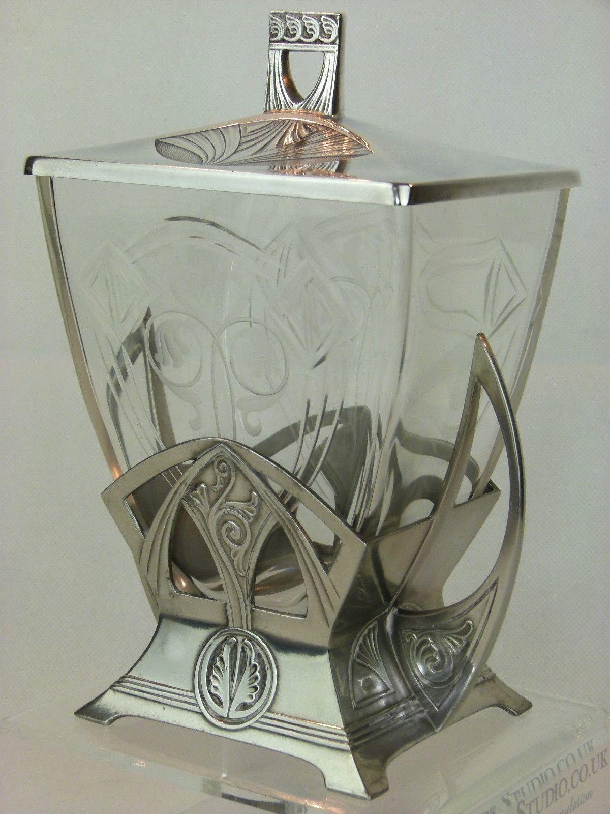 A Fabulous Art Nouveau Secessionist Silver Plated Biscuit Box By Wmf Ebay Art Nouveau Interior Art Nouveau Furniture Art Nouveau