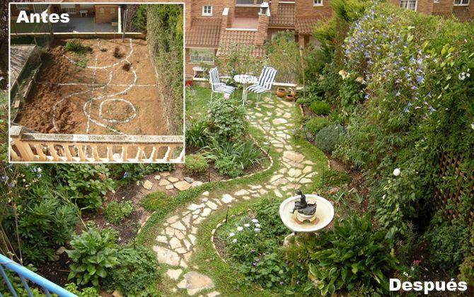 Antes y despu s tipos de flores pinterest dise o de for Tipos de jardines pequenos