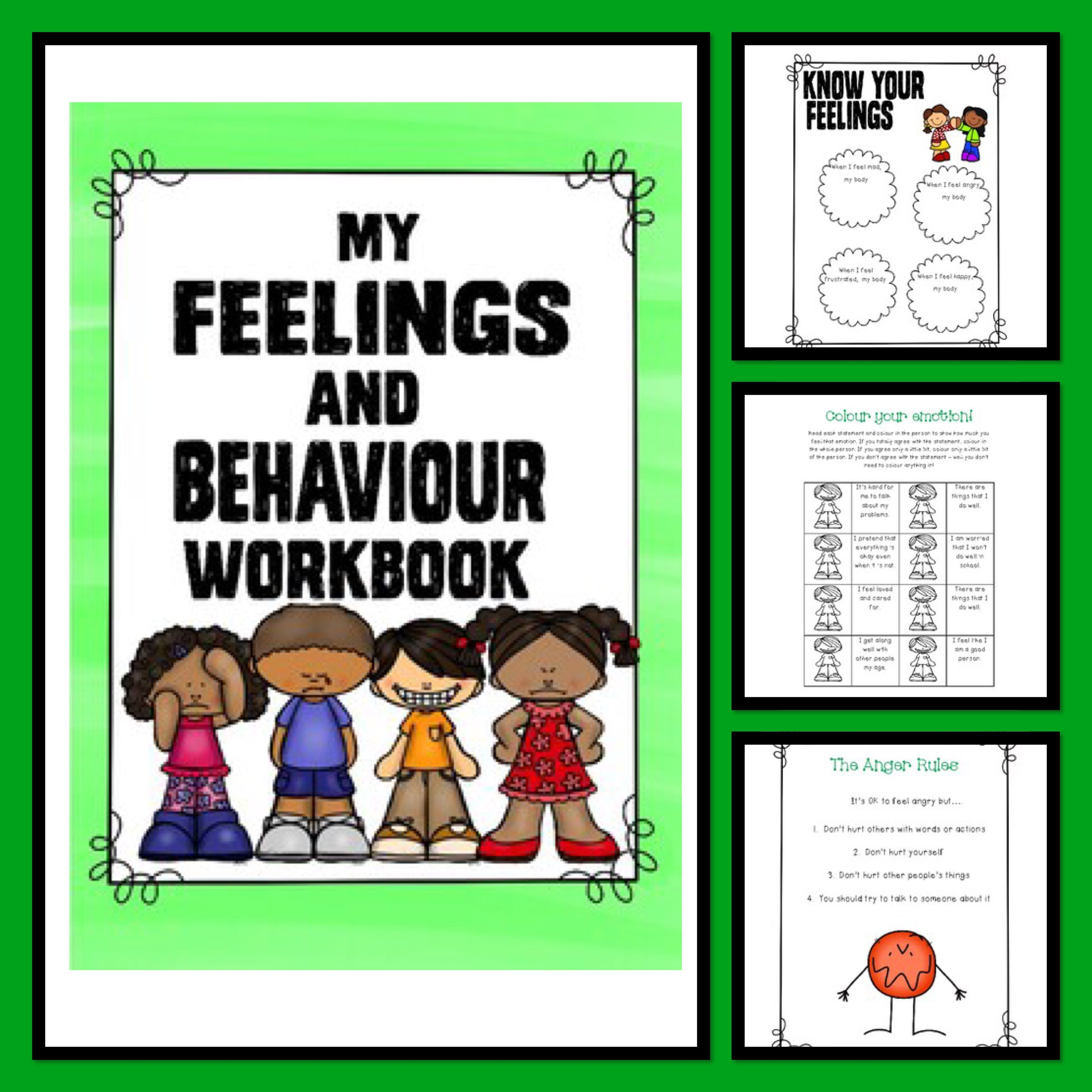 Behavior Support My Feelings And Behavior Workbook Lesson