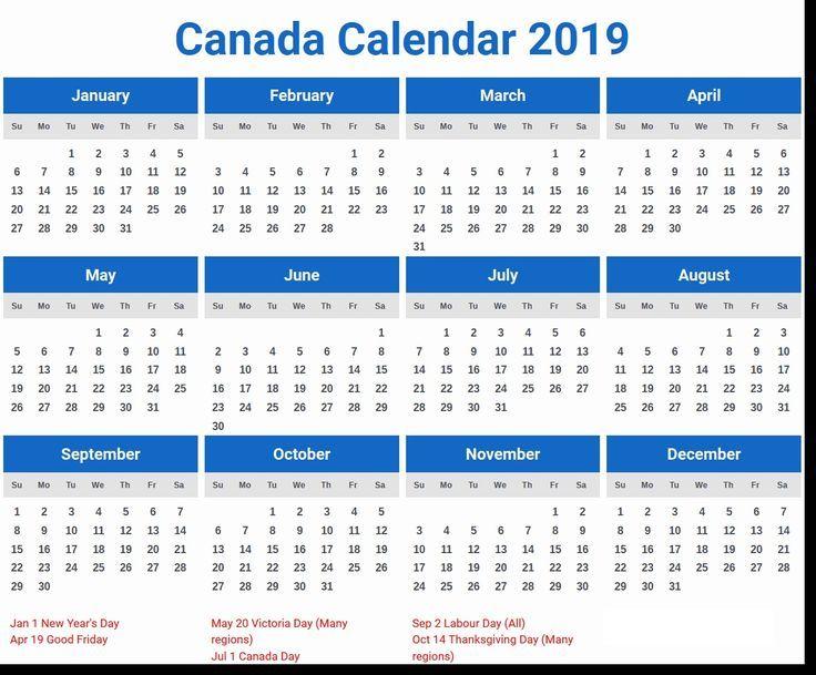 2019 Kalendervorlage Kalender Pinterest