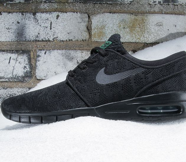 get cheap new release details for Nike SB Janoski Max – Black / Pine Green – Black | Sneakers ...