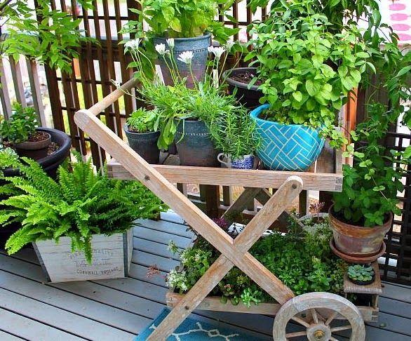 42 Ideas for small gardens - Balconies | Pinterest | Small gardens ...