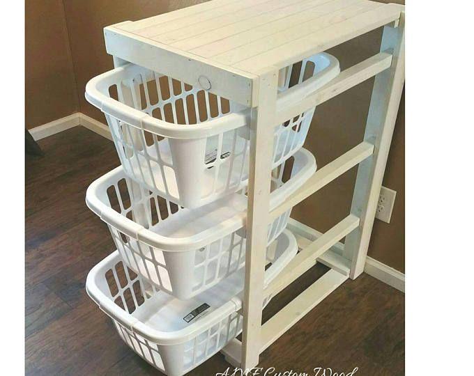 laundry basket holder distressed wood laundry basket holder laundry basket storage laundry. Black Bedroom Furniture Sets. Home Design Ideas
