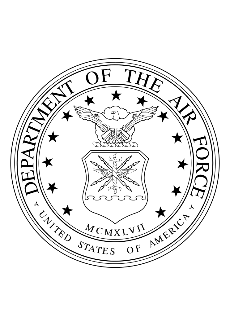 Us Air Force Logo Department Black Free Svg File Svg Free Files Free Svg Svg