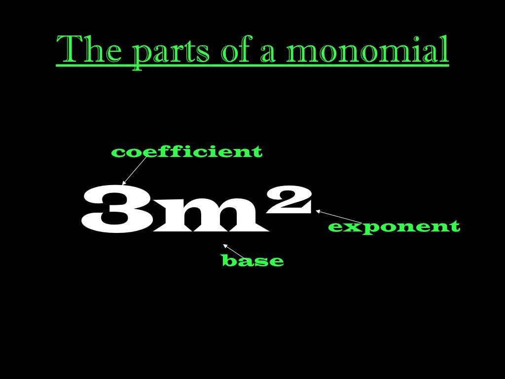 8 1 Multiplying Monomials